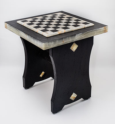 Lavastone Chess Table